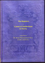 Surrey Parish Registers: Gatton 1599-1812 and Sanderstead 1565-1812
