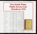 New South Wales Public Service List (Teachers) 1925