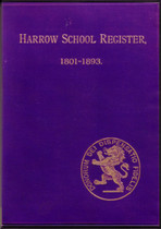 Harrow School Register, Middlesex 1801-1893