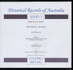 Historical Records of Australia Series 3 Volume 1