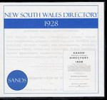 New South Wales Directory 1928 (Sands)