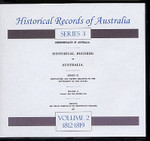 Historical Records of Australia Series 3 Volume 2