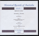 Historical Records of Australia Series 3 Volume 3