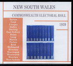 New South Wales Commonwealth Electoral Roll 1939