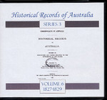 Historical Records of Australia Series 3 Volume 6