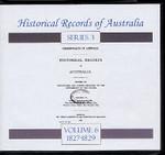 Historical Records of Australia Series 3 Volume 6