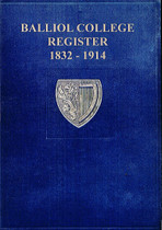 Balliol College Register, Oxfordshire 1832-1914