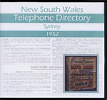 New South Wales Telephone Directory 1952: Sydney
