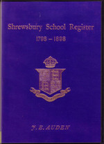 Shrewsbury School Register, Shropshire 1798-1898