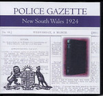 New South Wales Police Gazette 1924