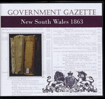 New South Wales Government Gazette 1863