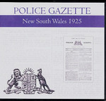 New South Wales Police Gazette 1925