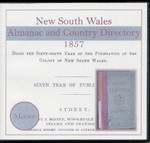 New South Wales Almanac and Country Directory 1857 (Moore)