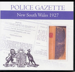 New South Wales Police Gazette 1927