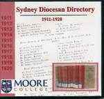 Sydney Diocesan Directory 1911-1920