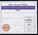 New South Wales Almanac and Country Directory 1921 (Moore)