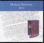 Medical Directory 1915