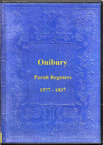 Shropshire Parish Registers: Onibury 1577-1837