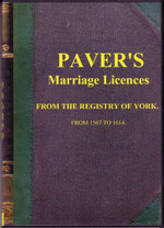 Yorkshire Parish Registers: York Marriage Licences 1567-1614