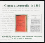 A Glance at Australia in 1880: Embracing a Squatters and Farmers Directory of the Whole of Australia