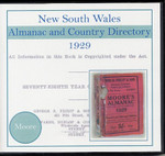 New South Wales Almanac and Country Directory 1929 (Moore)