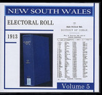 New South Wales State Electoral Roll 1913 Volume 5