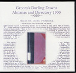 Darling Downs Almanac and Directory 1900 (Groom)