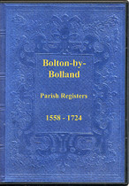 Yorkshire Parish Registers: Bolton-by-Bolland 1558-1724