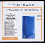 New South Wales Commonwealth Electoral Roll 1939 Dalley