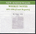 New South Wales Weekly Notes 1893-1896 (Court Reports)