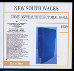 New South Wales Commonwealth Electoral Roll 1939 Darling