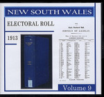 New South Wales State Electoral Roll 1913 Volume 9