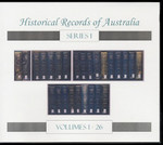 Historical Records of Australia Series 1 Volumes 1-26 Set