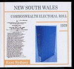 New South Wales Commonwealth Electoral Roll 1939 East Sydney