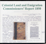 Colonial Land and Emigration Commissioners Report 1850