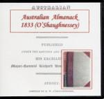 Australian Almanac 1833 (O'Shaughnessey)