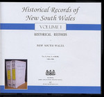 Historical Records of New South Wales Volume 1