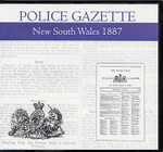 New South Wales Police Gazette 1887