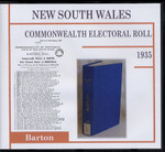 New South Wales Commonwealth Electoral Roll 1935 Barton