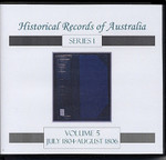 Historical Records of Australia series 1 Volume 5