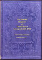 Lancashire Parish Reigsters: Liverpool 1660-1704