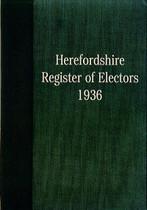 Herefordshire Register of Electors 1936