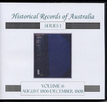 Historical Records of Australia Series 1 Volume 6