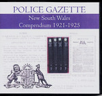 New South Wales Police Gazette Compendium 1921-1925