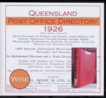 Queensland Post Office Directory 1926 (Wise)
