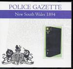 New South Wales Police Gazette 1894