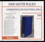 New South Wales Commonwealth Electoral Roll 1935 Dalley