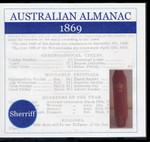 Australian Almanac 1869 (Sherriff)