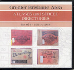 Greater Brisbane Area Atlases and Street Directories - set of 4 1931-c1948