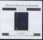 Historical Records of Australia Series 1 Volume 9